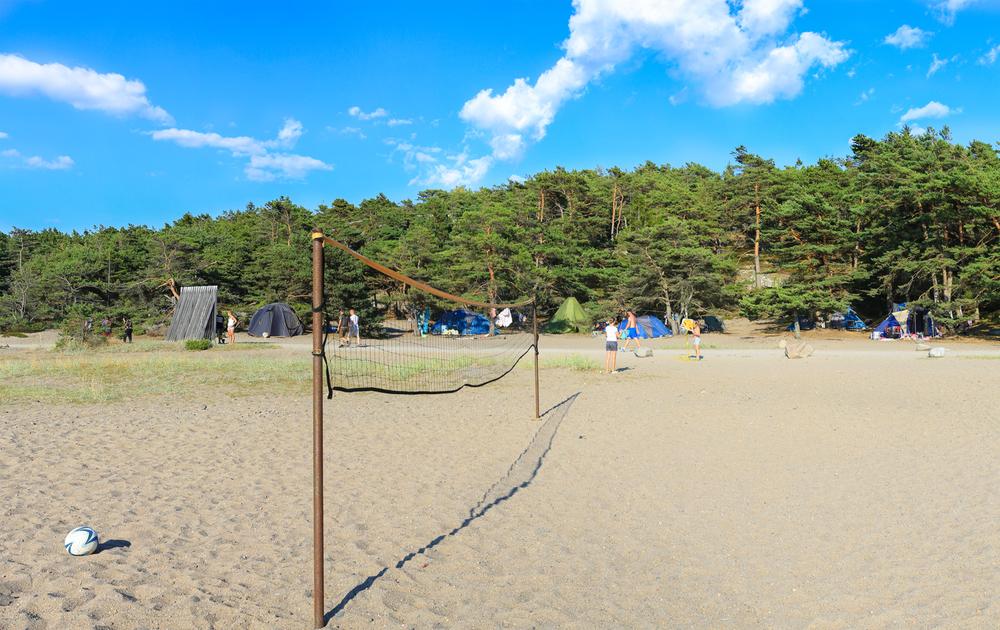 Teltplass ved Norges beste sandstrand