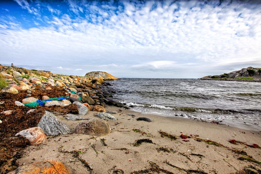 Stranden Grønnbauen på øya Herføl.