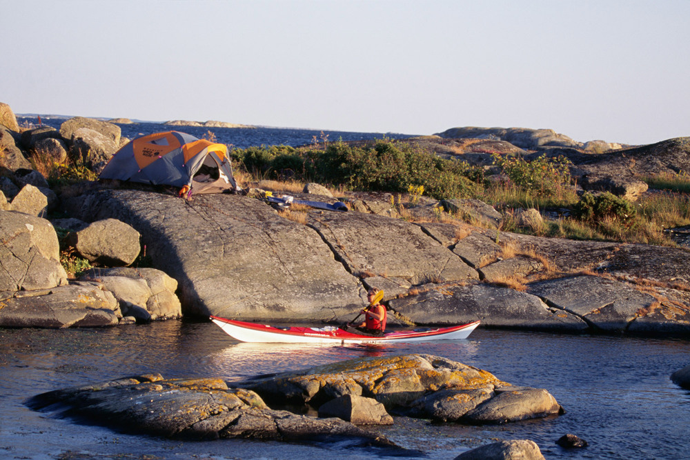 Du kan telte flere steder i nasjonalparken, men i fuglefredningsområder er det forbudt å slå opp telt.