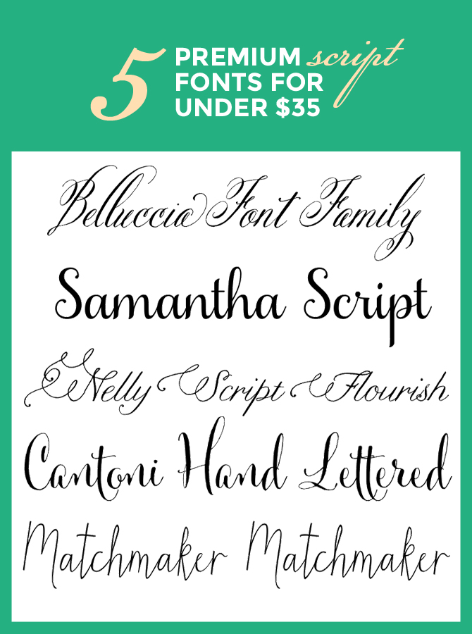 Premium script fonts under kate hash