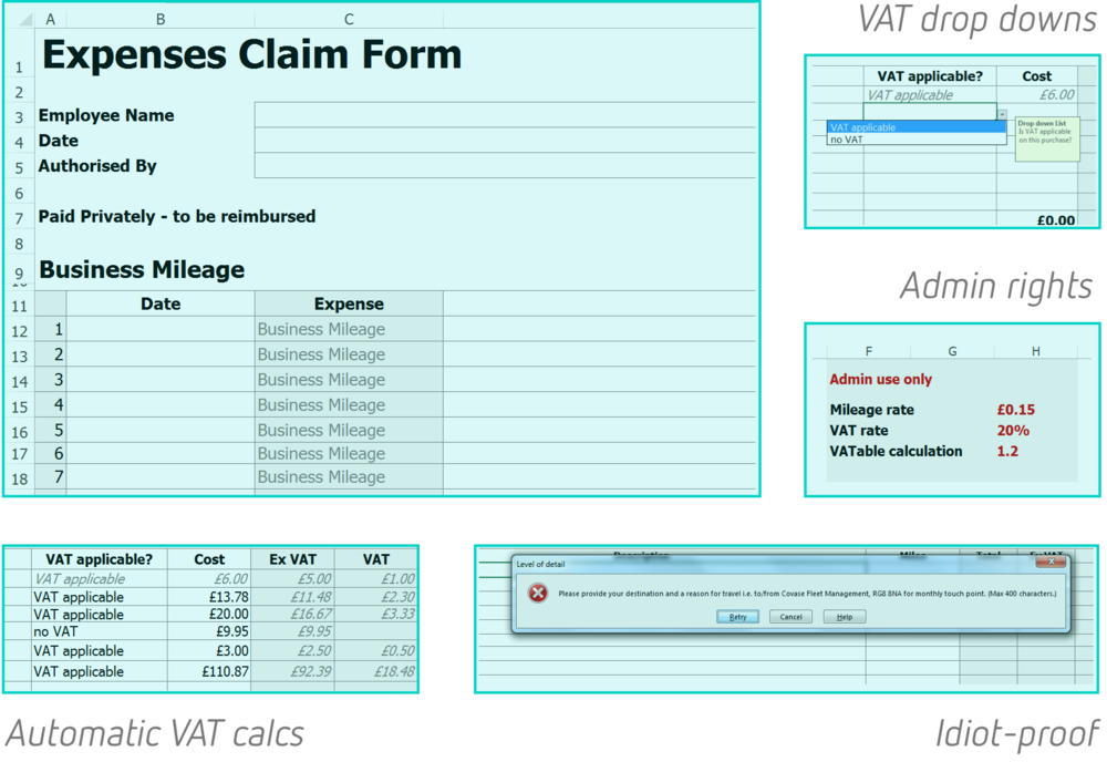 Expenses Form Free Download Fleet Management Covase
