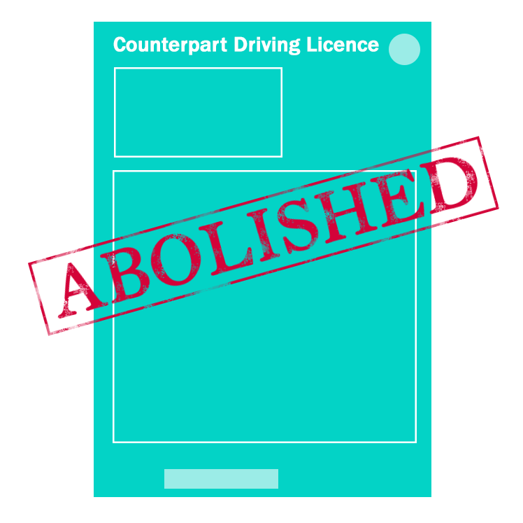Driving Licence Counterpart Changes to Online Check Licence Portal