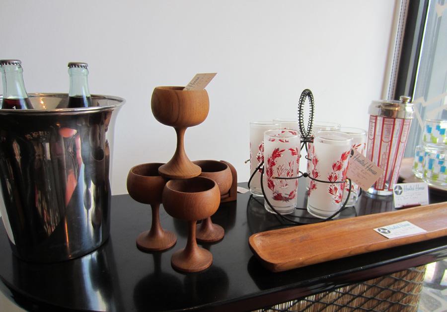 Danish teak mid century cups