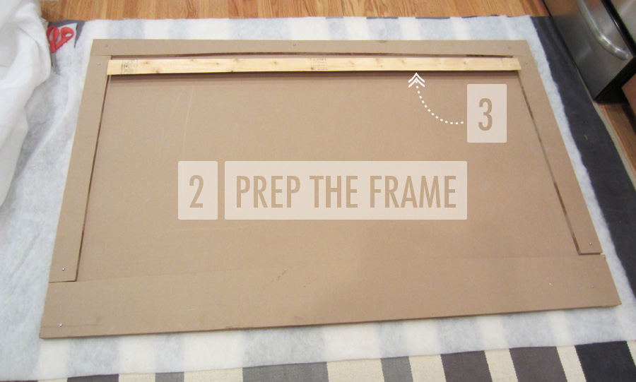Step 2: Create A Frame For Your Upholstered Headboard And Add A French Cleat