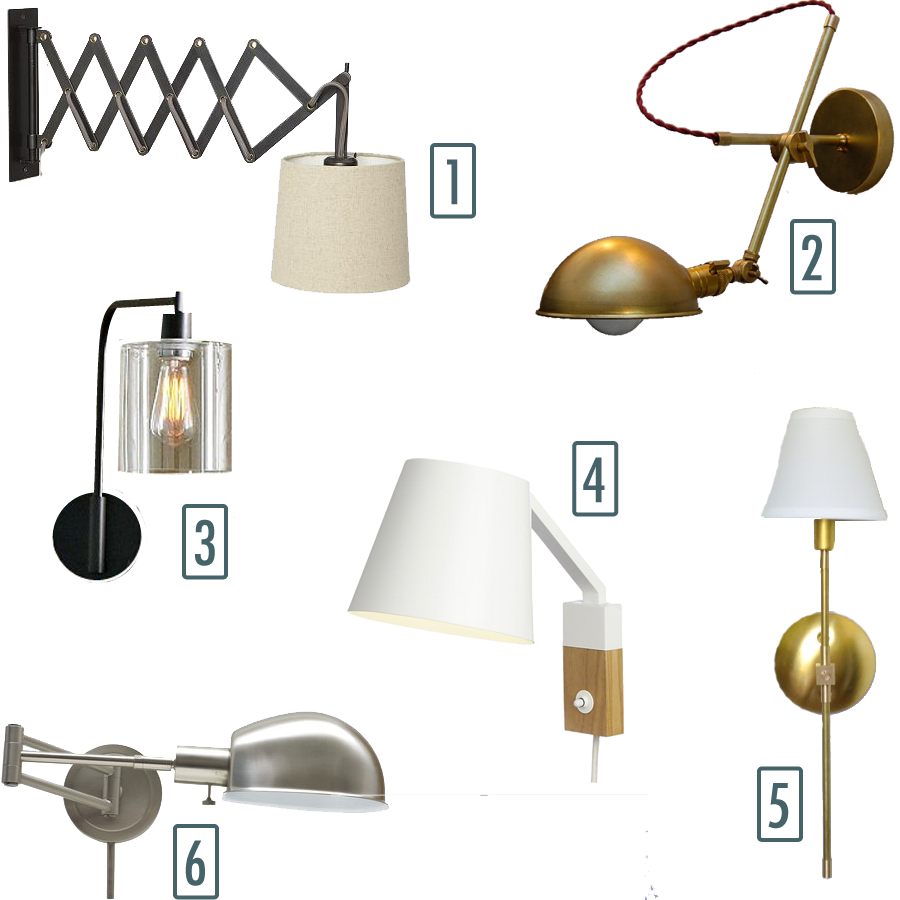 Some of my favorite options for bedside sconces.