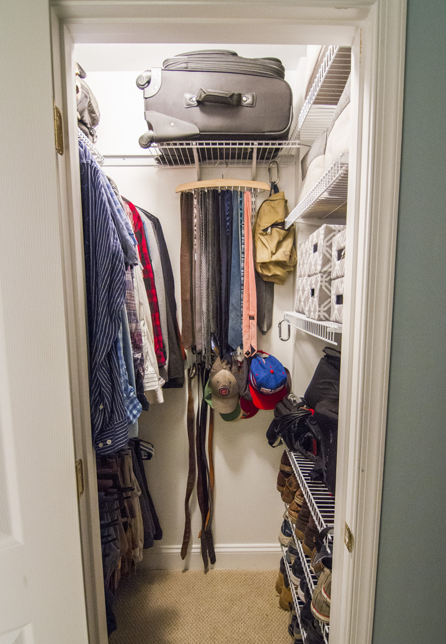 Eli's preferred set up for an organized closet