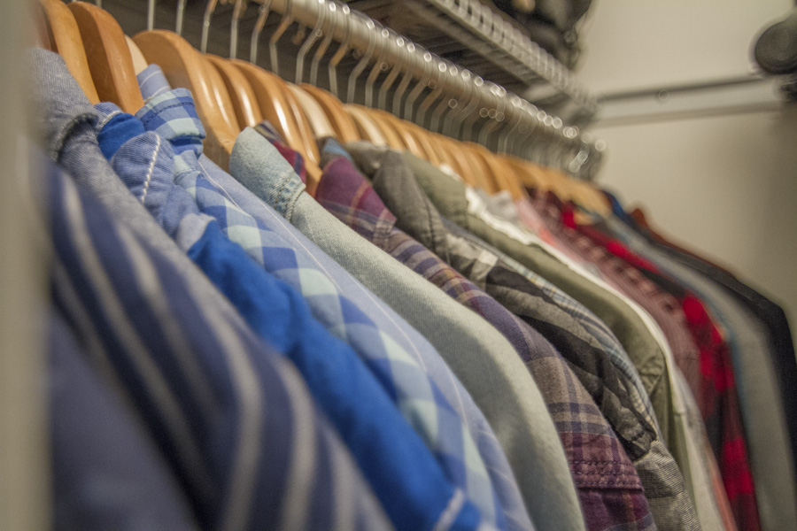 Matching hangers make a big difference by creating a clean look in your closet