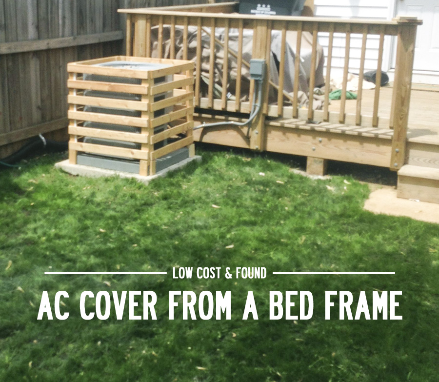 How to build an AC cover from wood bed frame slats
