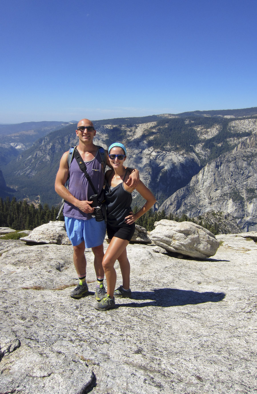 Eli & I on top of Sentinel Dome in Yosemite