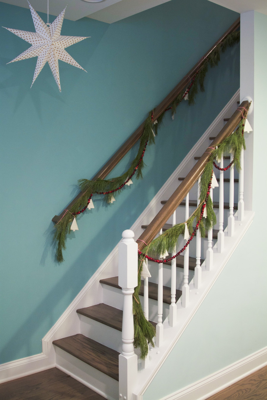 Our Christmassy stairwell