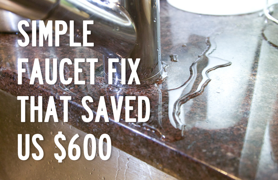 Simple faucet fix that saved us $600