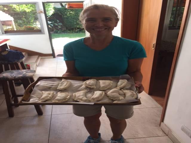 Ana with our empanadas
