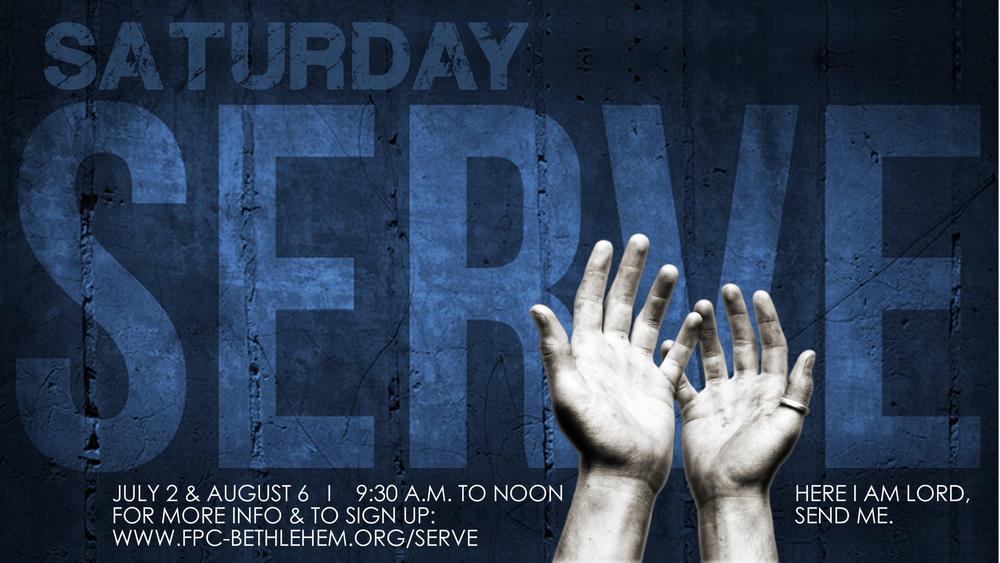 Saturday Serve