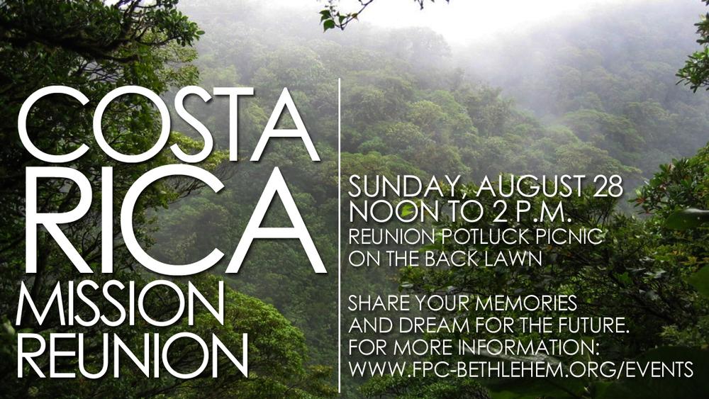Costa Rica Mission Reunion