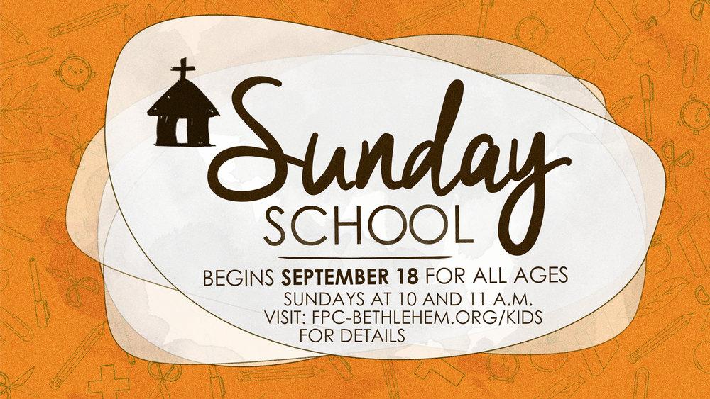Sunday School 2016
