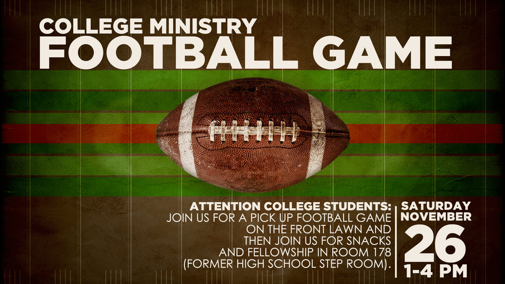 Pick Up Football Game