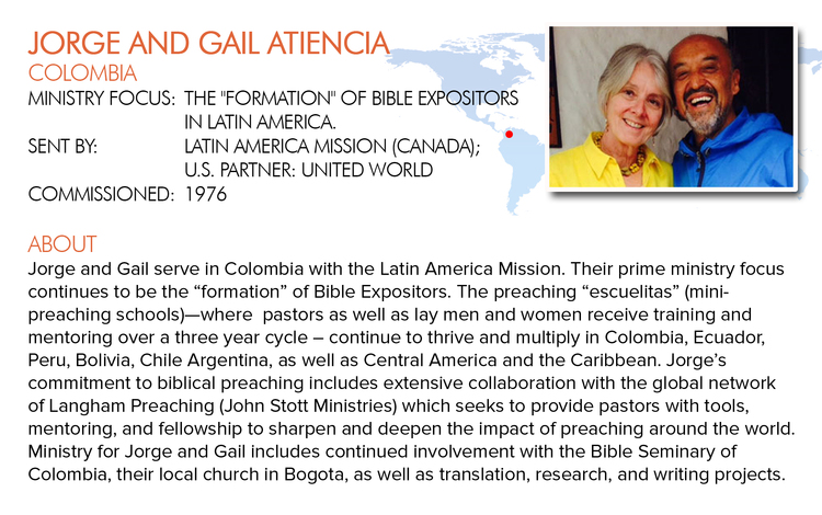 Click here for the latest news from Gail and Atiencia.