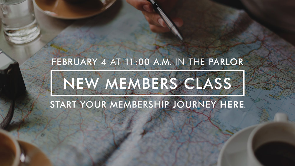 Our next New Members Class is February 4, 2018 from 11 am - 2 pm in the Parlor. Click hereto register for the class. We welcome all who earnestly seek a walk with Jesus Christ in the Holy Spirit.