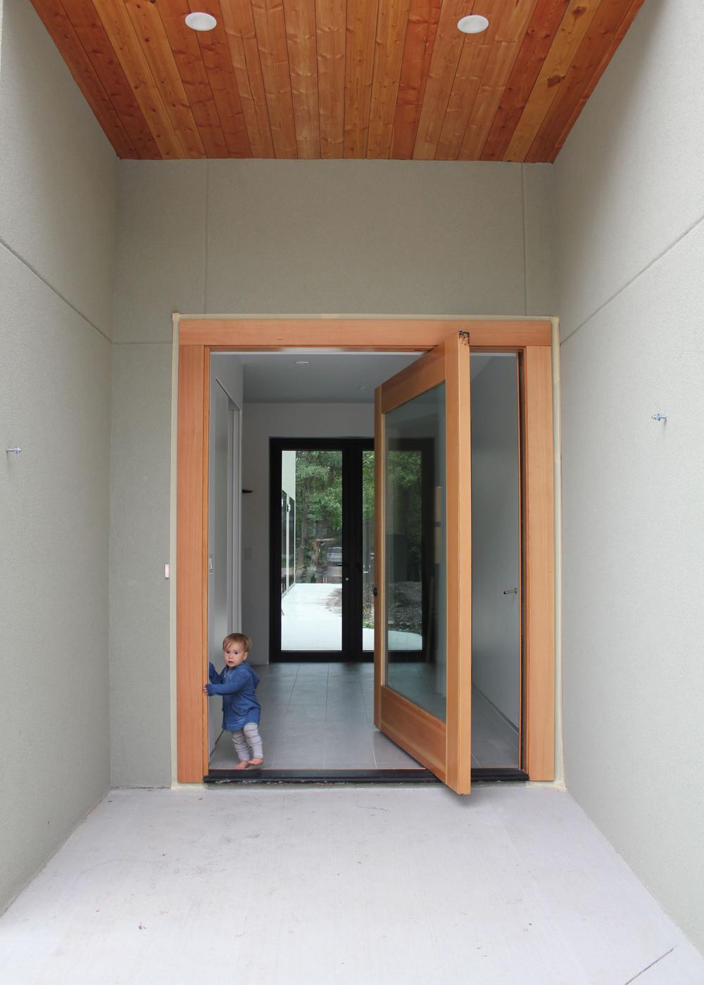 "7'-0"" solid oak pivot entrance Door"