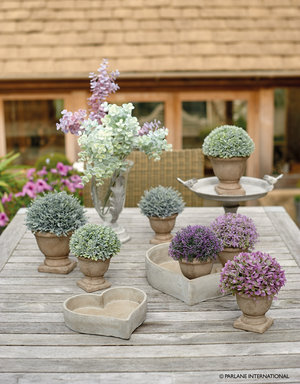 Artificial planted urns in two sizes - Large £ and Small £