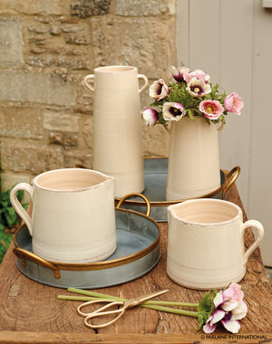 Single handle jugs - Large £ and small £ | Tall double handle jug £