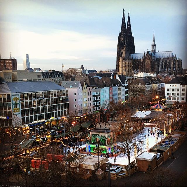 Despite recent atrocities in Germany, still a  large turn-out. Beautiful X-mas market.