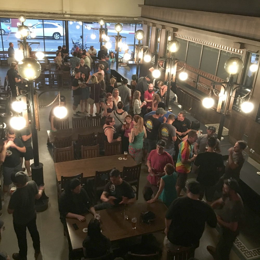 "Friends & Family preview night at North Park Beer Company - it probably hasn't been this ""empty"" since then."