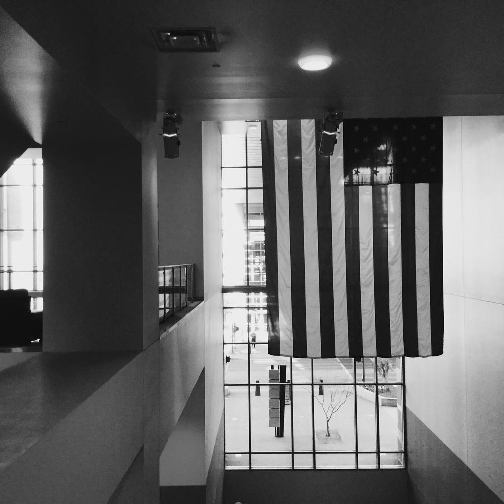 Flag 2, black and white