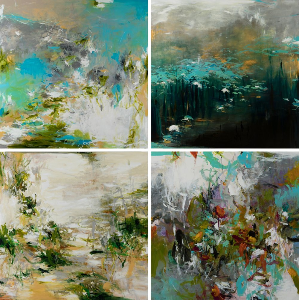 Examples of four of Jennifer's larger format paintings