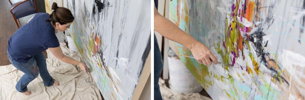 Jennifer at work in her Port Royal, SC studio.