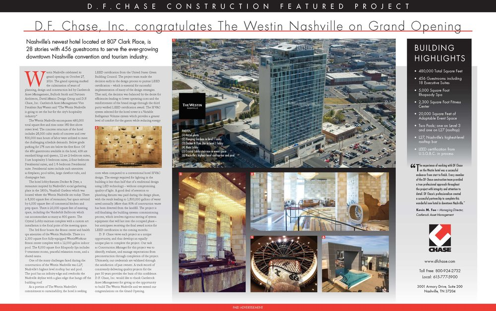 As seen in November 11, 2016 edition of the Nashville Business Journal.  Click image above to be redirected to www.westinnashville.com for more information.