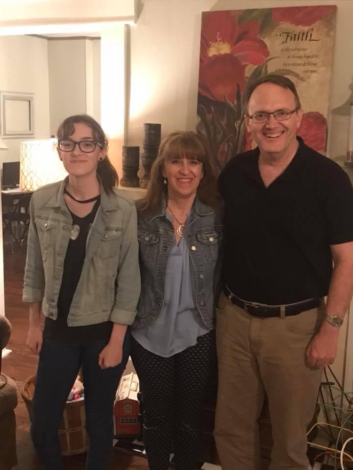 Martin, Paola, and Melody Rizley serving in Malaga Spain