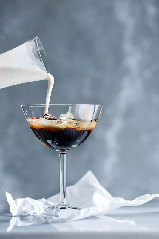 White Russian Cocktail Drink Stock Photo