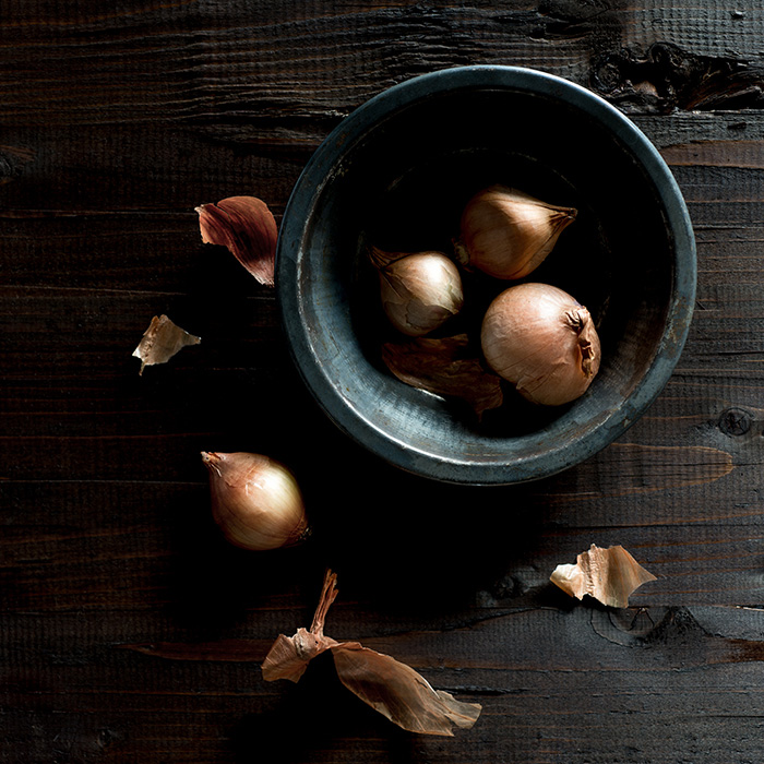 Raw Shallots Food Stock Photo