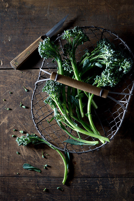 Raw Broccoli Rabe Food Stock Photo