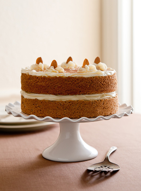 Almond Spice Cake Food Stock Photo