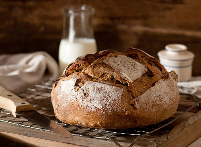 Rustic Bread Boule Food Stock Photo