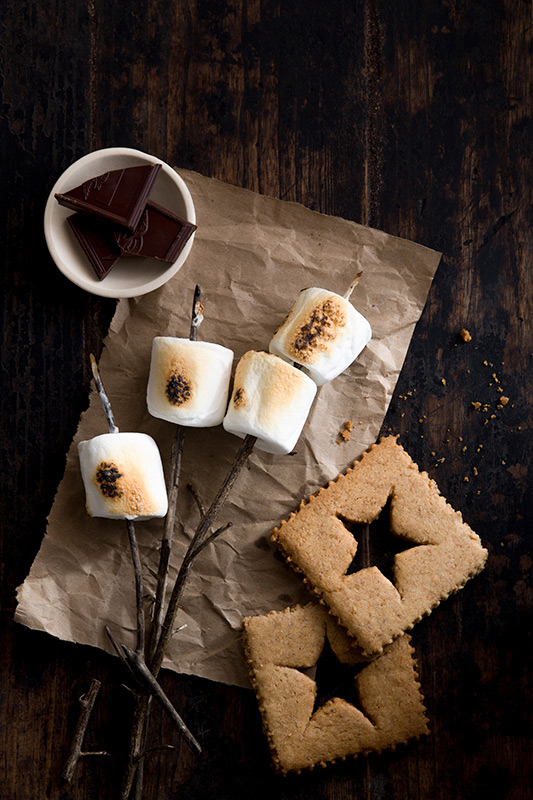 Smores Ingredients Food Stock Photo