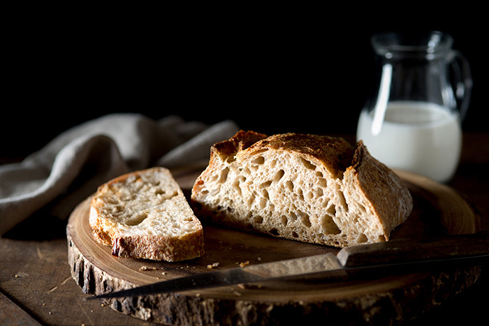 Cut Bread Loaf Food Stock Photo