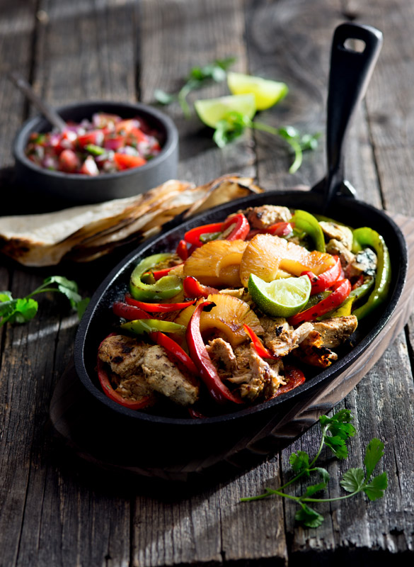 Chicken Pineapple Fajita Food Stock Photo