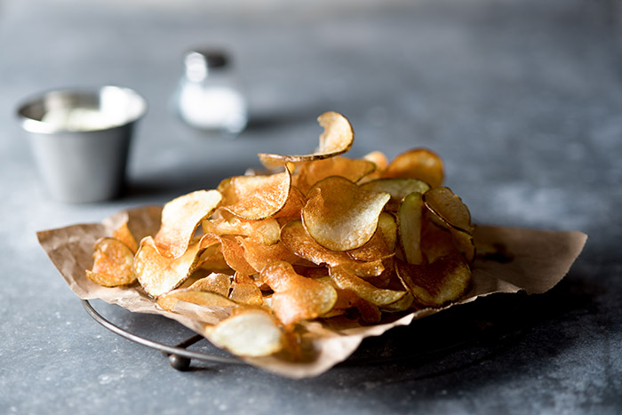 Potato Chips Food Stock Photo