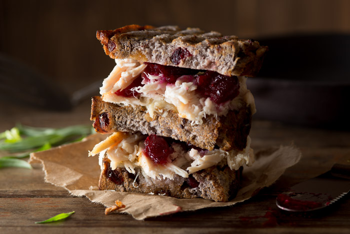 Turkey Cranberry Sandwich Food Stock Photo