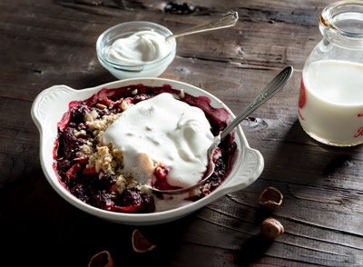 Apple Berry Crisp Food Stock Photo