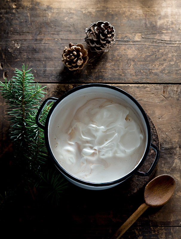 Hot Chocolate with Whipped Cream Drink Stock Photo
