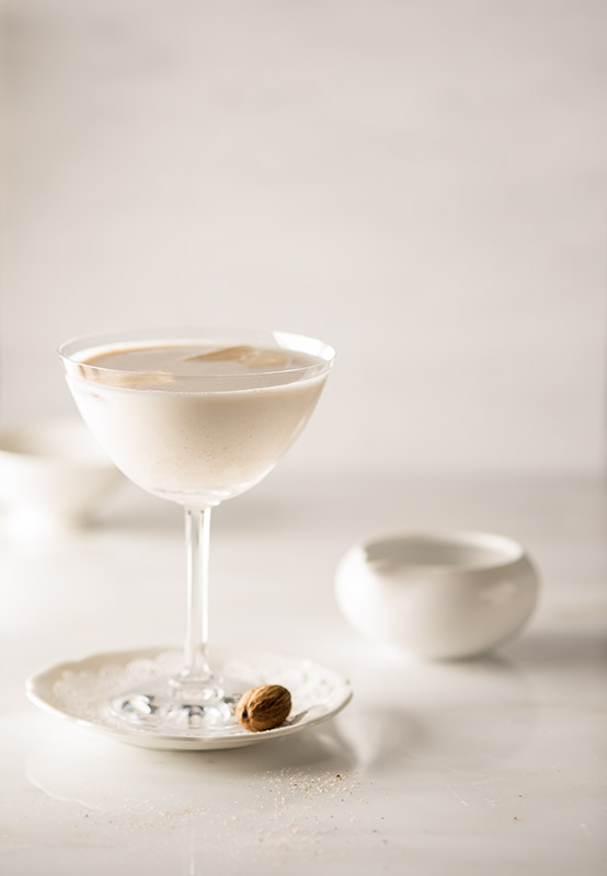 Milk Punch Drink Stock Photo
