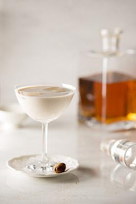 Bourbon Milk Punch Drink Stock Photo