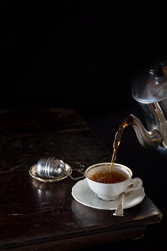 Pouring Hot Tea Stock Photo