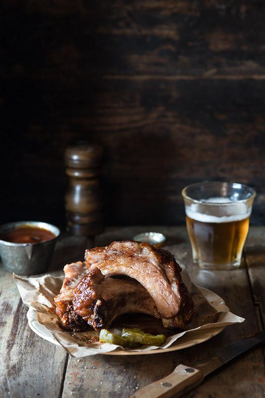 Pork Ribs Stock Food Photo