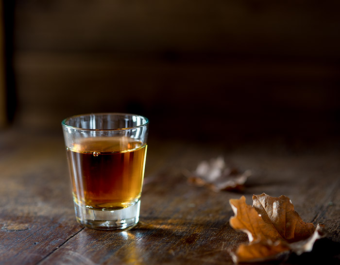 Bourbon Shot Stock Photo
