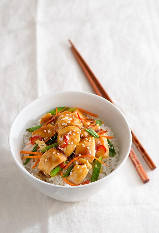 Cashew Chicken Stir Fry Stock Food Photo